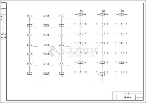 一整套别墅室内电气设计方案cad图-图3