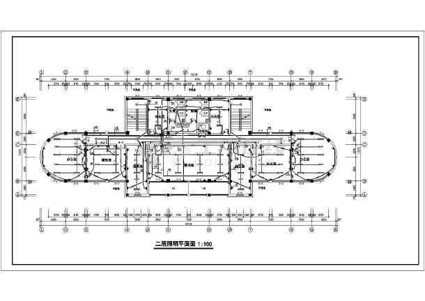办公楼设计方案施工图(共12张)-图1