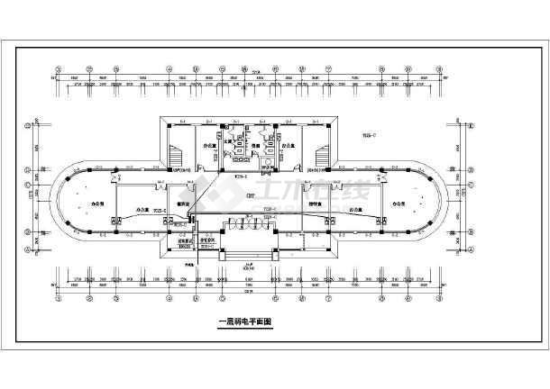 办公楼设计方案施工图(共12张)-图2