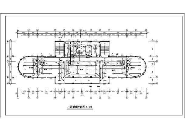 办公楼设计方案施工图(共12张)-图3