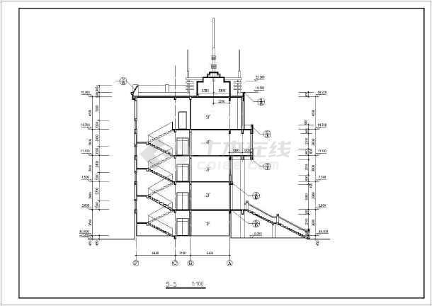 某商业综合楼建筑设计施工图-图3