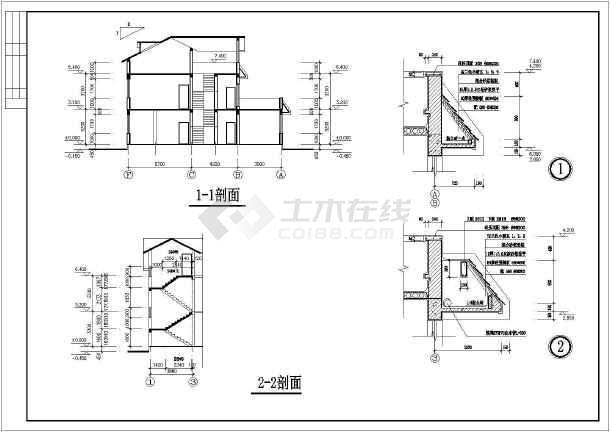 乡村别墅建筑设计方案图-图1