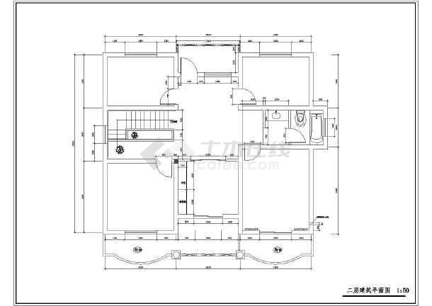 某农村小别墅全套建筑设计图纸-图1