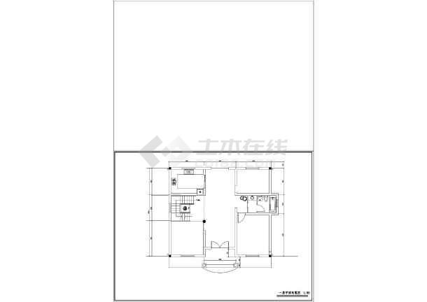 某农村小别墅全套建筑设计图纸-图2