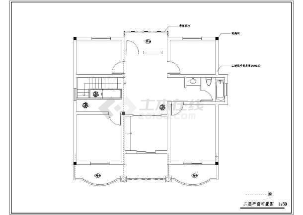 某农村小别墅全套建筑设计图纸-图3