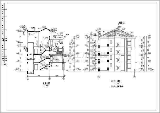 某地复式住宅建筑cad设计方案图-图3
