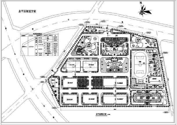 某工厂规划设计cad总图-图1