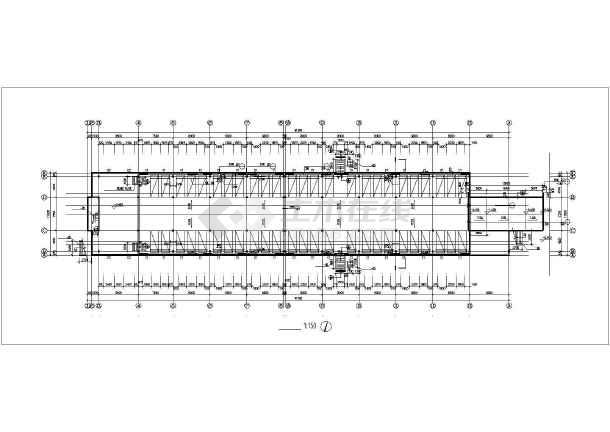 某小区地下车库建筑cad设计图-图1