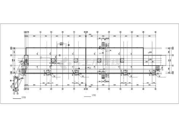 某小区地下车库建筑cad设计图-图3