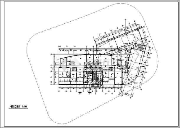 某地高层住宅楼建筑cad设计图-图1
