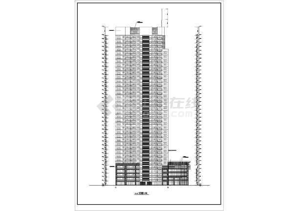 某地高层住宅楼建筑cad设计图-图2