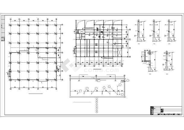 宜都某框架酒店结构设计图-图1