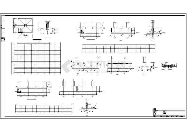 宜都某框架酒店结构设计图-图2