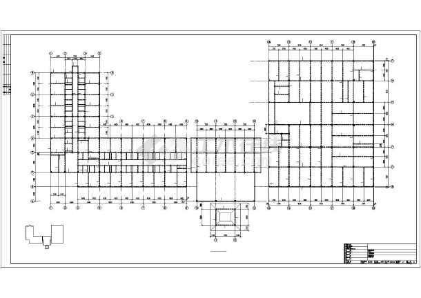 宜都某框架酒店结构设计图-图3