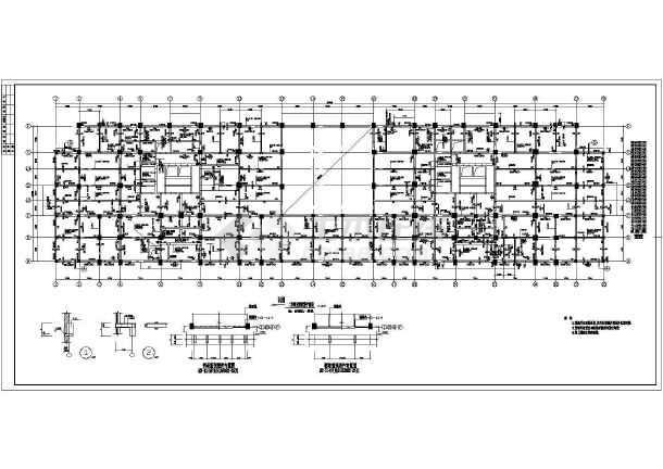 某地高层商住楼建筑结构图-图1