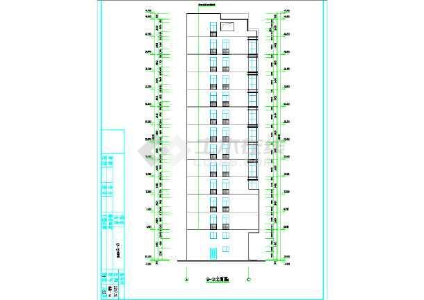 广东私人小高层住宅施工图-图2