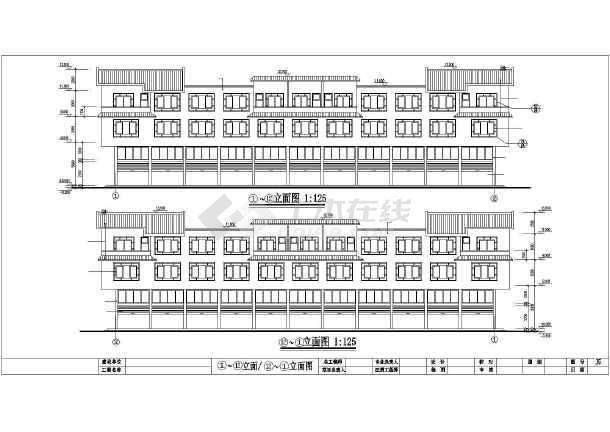 点击查看某大市场居住楼建筑施工图第1张大图