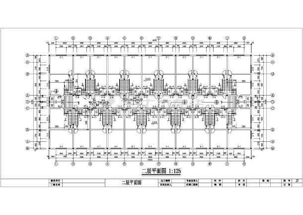 某大市场居住楼建筑施工图-图3