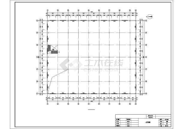 门式刚架带夹层结构二层厂房建筑结构施工图-图1