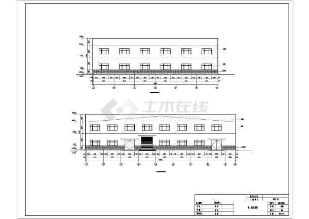 门式刚架带夹层结构二层厂房建筑结构施工图-图3