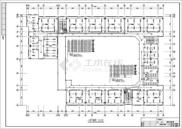 教学楼设计方案电气施工图(共6张)-图1