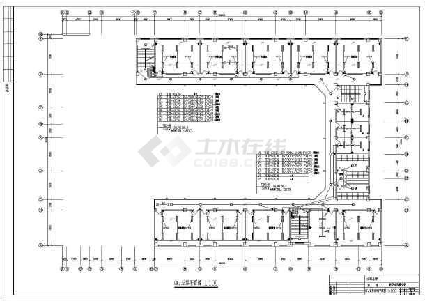 教学楼设计方案电气施工图(共6张)-图3