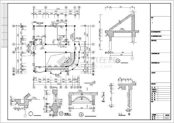816.85平米欧式别墅建筑图纸-图1
