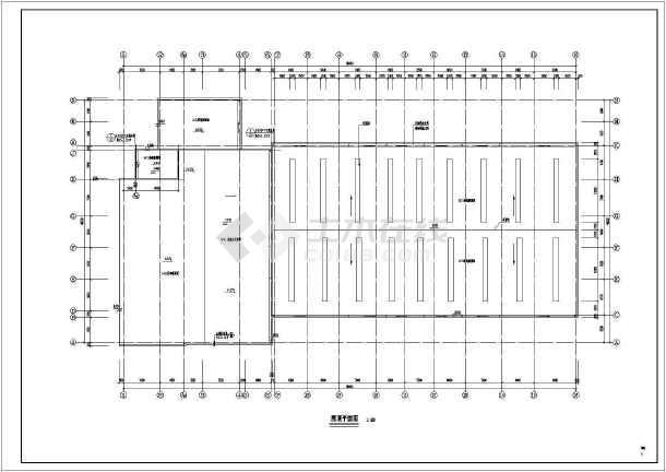 某小区二层车库建筑设计图-图1