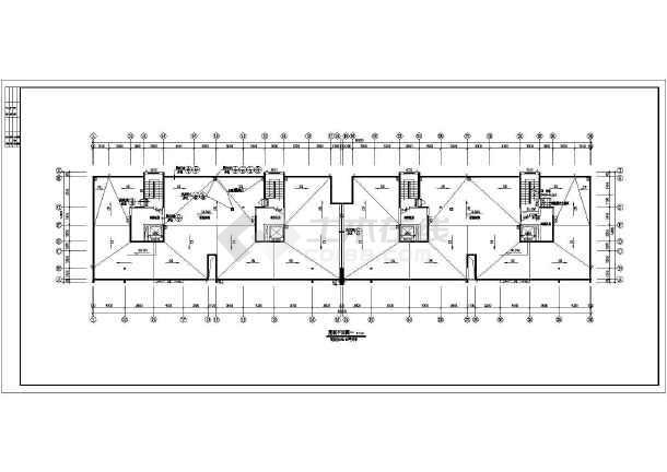 小高层住宅楼建筑设计图纸-图1