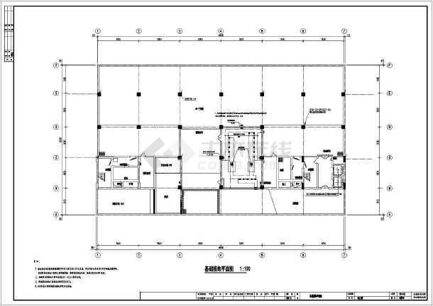 某综合楼电气照明施工图(共10张)-图1