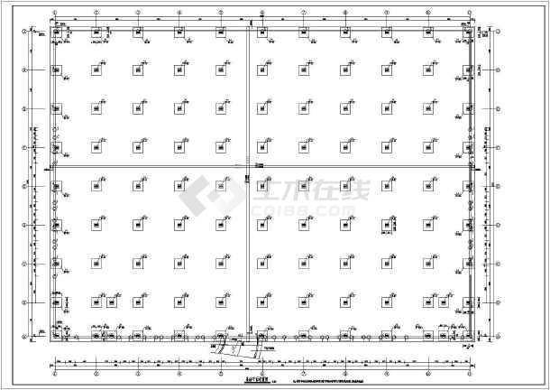 某地钢结构汽车展厅结构施工图-图3