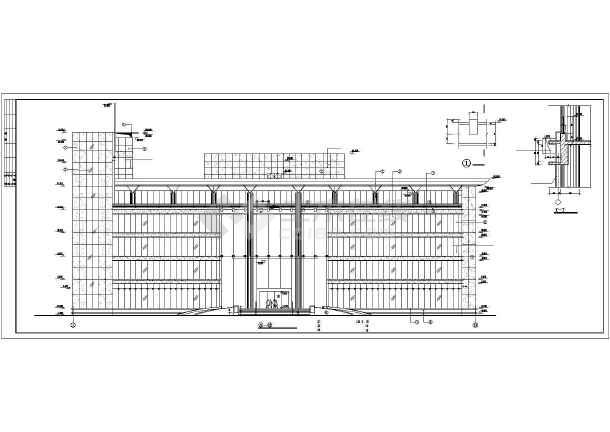 现代办公楼建筑设计方案图-图1
