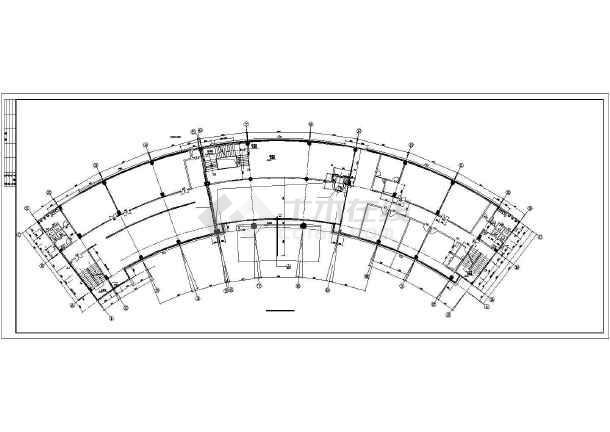 现代办公楼建筑设计方案图-图2