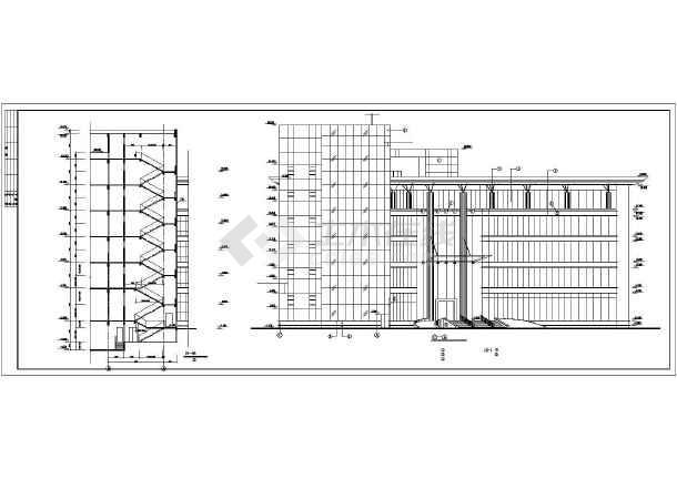 现代办公楼建筑设计方案图-图3