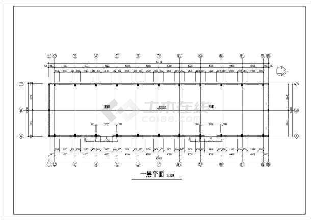 某车间设计方案图-图1