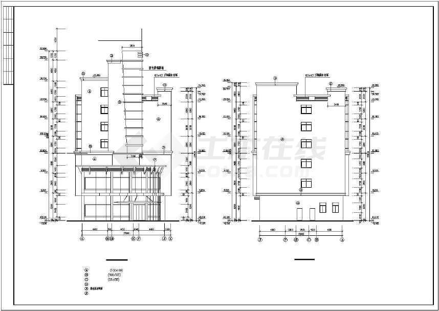 某地综合性商业建筑施工图-图1