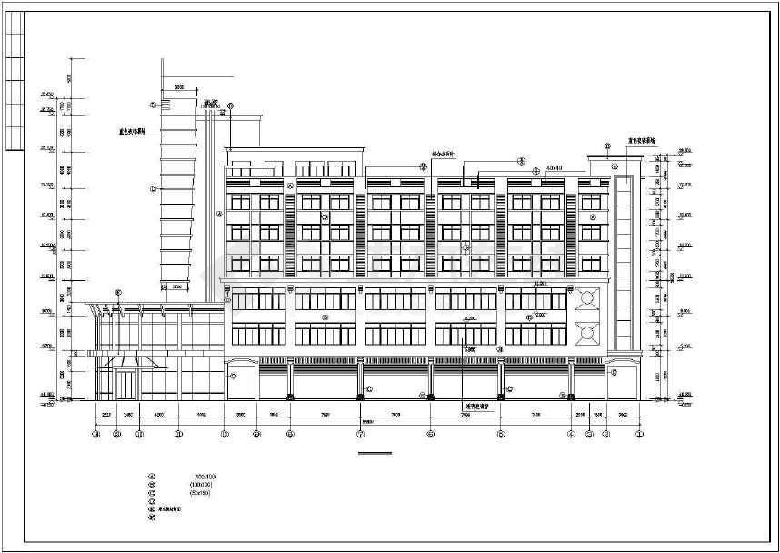 某地综合性商业建筑施工图-图2
