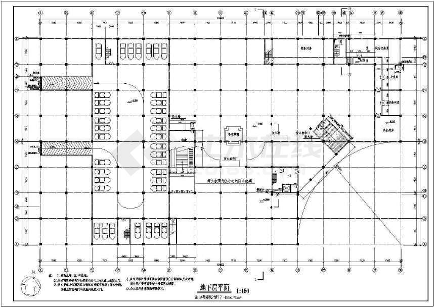 某地商场建筑设计方案图(共3张)-图2