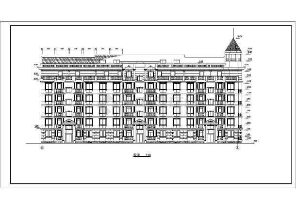 某高档小区高层住宅楼建筑施工图(全套)-图2