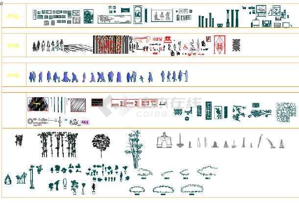各种室内模型立面图、平面图、模型图块-图3