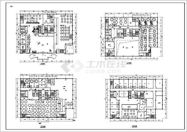某星级酒店建筑cad图-图2