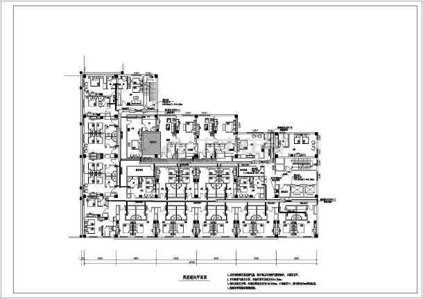 北京某快捷酒店暖通设计图纸-图1