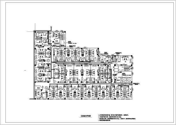 北京某快捷酒店暖通设计图纸-图3