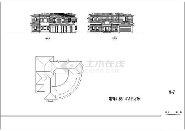 多个农村别墅设计cad建筑方案图-图1