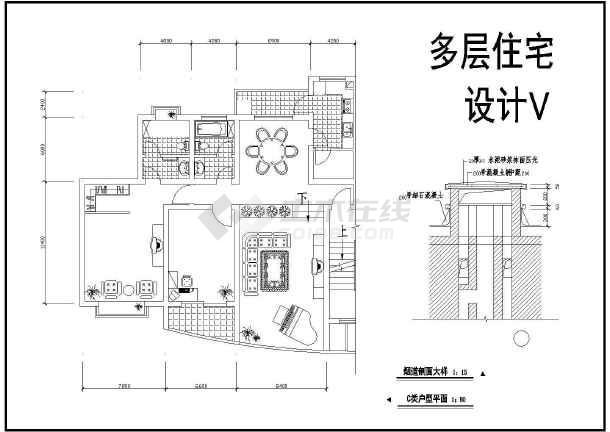 某地多套住宅建筑cad方案设计图-图3