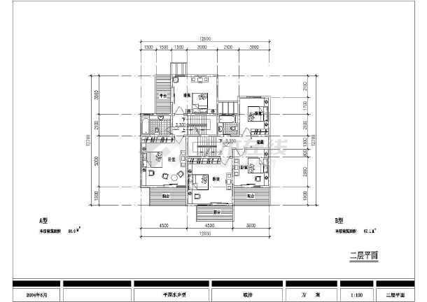 某郊区特色别墅建筑设计图纸-图1
