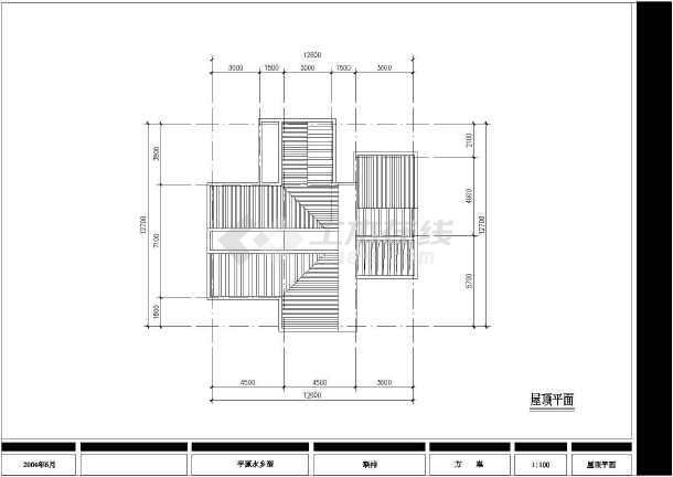 某郊区特色别墅建筑设计图纸-图3