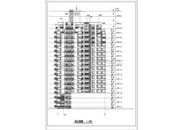 某市高层住宅楼建筑cad施工图(全套)-图1