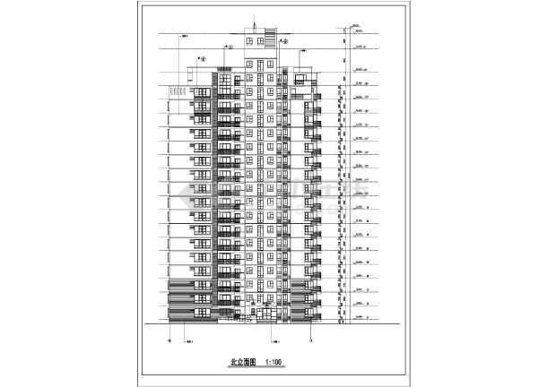 某市高层住宅楼建筑cad施工图(全套)-图2