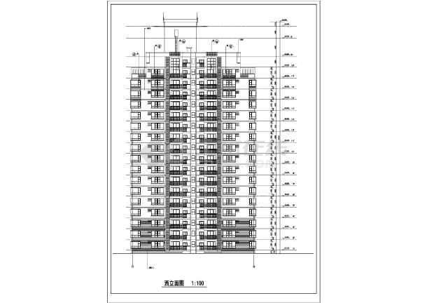某市高层住宅楼建筑cad施工图(全套)-图3